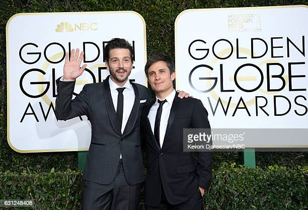 74th ANNUAL GOLDEN GLOBE AWARDS Pictured Actors Diego Luna and Gael García Bernal arrive to the 74th Annual Golden Globe Awards held at the Beverly...