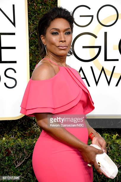 74th ANNUAL GOLDEN GLOBE AWARDS Pictured Actress Angela Bassett arrives to the 74th Annual Golden Globe Awards held at the Beverly Hilton Hotel on...