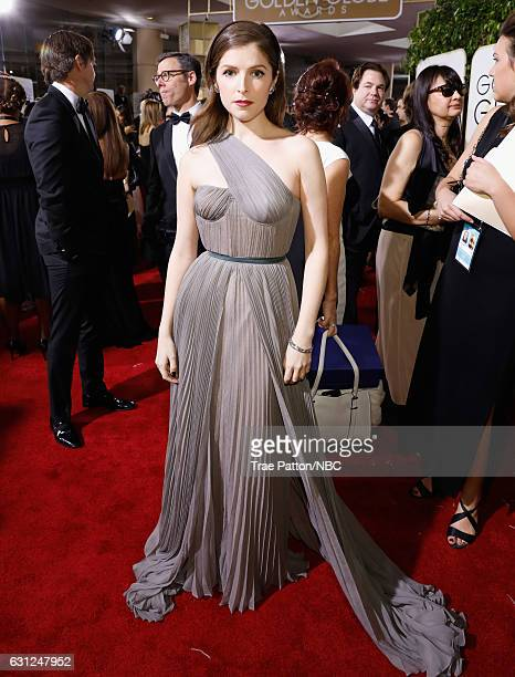 74th ANNUAL GOLDEN GLOBE AWARDS Pictured Actress Anna Kendrick arrives to the 74th Annual Golden Globe Awards held at the Beverly Hilton Hotel on...