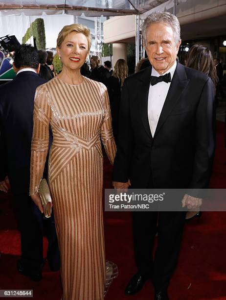 74th ANNUAL GOLDEN GLOBE AWARDS Pictured Actress Annette Bening and actor/producer Warren Beatty arrive to the 74th Annual Golden Globe Awards held...