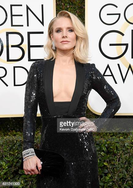 74th ANNUAL GOLDEN GLOBE AWARDS Pictured Actress Kristen Bell arrives to the 74th Annual Golden Globe Awards held at the Beverly Hilton Hotel on...