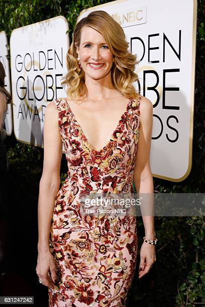 74th ANNUAL GOLDEN GLOBE AWARDS Pictured Actress Laura Dern arrives to the 74th Annual Golden Globe Awards held at the Beverly Hilton Hotel on...