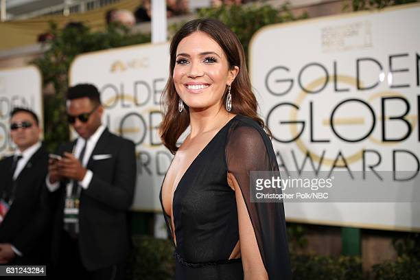 74th ANNUAL GOLDEN GLOBE AWARDS Pictured Actress Mandy Moore arrives to the 74th Annual Golden Globe Awards held at the Beverly Hilton Hotel on...