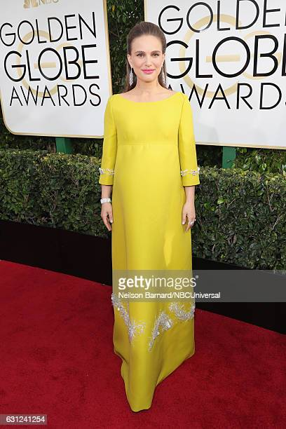 74th ANNUAL GOLDEN GLOBE AWARDS Pictured Actress Natalie Portman arrives to the 74th Annual Golden Globe Awards held at the Beverly Hilton Hotel on...