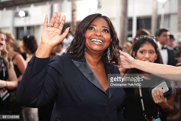 74th ANNUAL GOLDEN GLOBE AWARDS Pictured Actress Octavia Spencer arrives to the 74th Annual Golden Globe Awards held at the Beverly Hilton Hotel on...