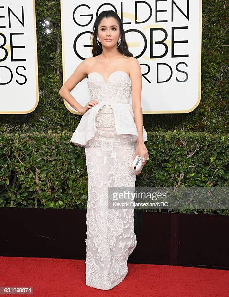 74th ANNUAL GOLDEN GLOBE AWARDS Pictured Actress Praya Lundberg arrives to the 74th Annual Golden Globe Awards held at the Beverly Hilton Hotel on...