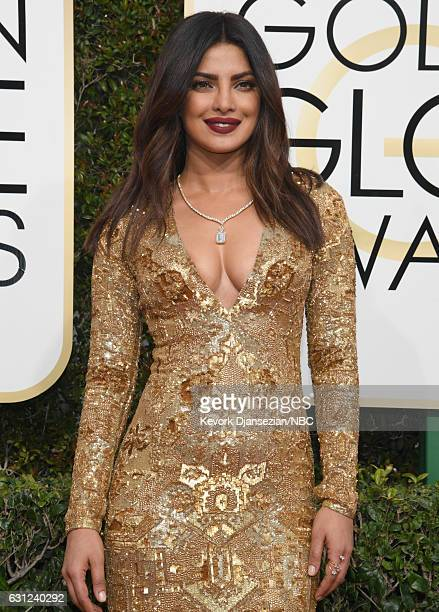 74th ANNUAL GOLDEN GLOBE AWARDS Pictured Actress Priyanka Chopra arrives to the 74th Annual Golden Globe Awards held at the Beverly Hilton Hotel on...