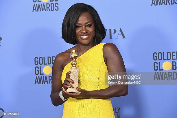 74th ANNUAL GOLDEN GLOBE AWARDS Pictured Actress Viola Davis winner of the Best Performance by an Actress in a Supporting Role in Any Motion Picture...