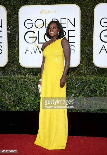 74th ANNUAL GOLDEN GLOBE AWARDS Pictured Actress/producer Viola Davis arrives to the 74th Annual Golden Globe Awards held at the Beverly Hilton Hotel...