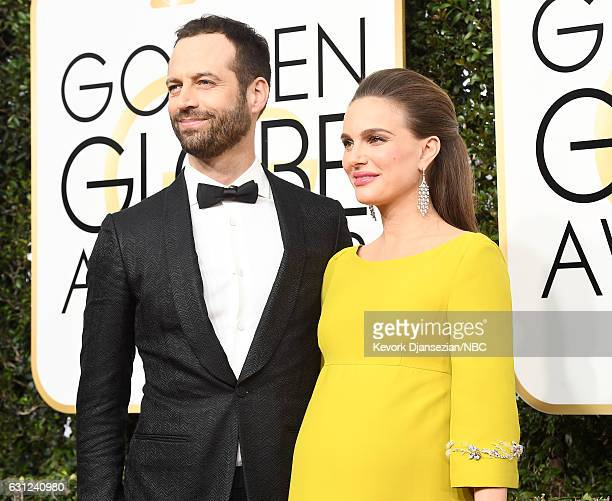 74th ANNUAL GOLDEN GLOBE AWARDS Pictured Choreographer Benjamin Millepied and actress Natalie Portman arrive to the 74th Annual Golden Globe Awards...