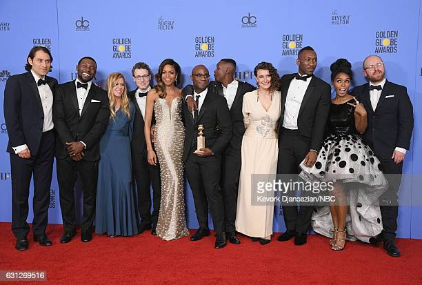 74th ANNUAL GOLDEN GLOBE AWARDS Pictured Jeremy Kleiner Trevante Rhodes Dede Gardner Nicholas Britell Naomie Harris Barry Jenkins Ashton Sanders...