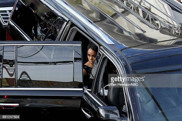 74th ANNUAL GOLDEN GLOBE AWARDS Pictured Singer Janelle Monae arrives to the 74th Annual Golden Globe Awards held at the Beverly Hilton Hotel on...