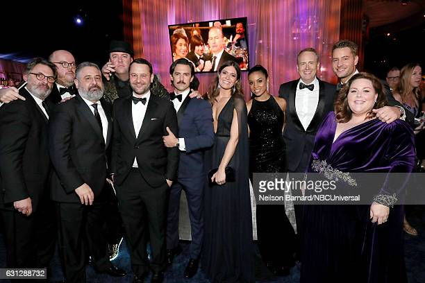 74th ANNUAL GOLDEN GLOBE AWARDS Pictured The cast and creators of 'This Is Us' pose during the Universal NBC Focus Features E Entertainment Golden...