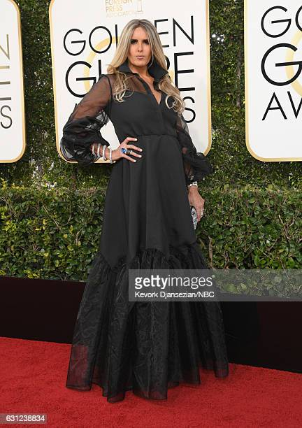 74th ANNUAL GOLDEN GLOBE AWARDS Pictured Tiziana Rocca arrives to the 74th Annual Golden Globe Awards held at the Beverly Hilton Hotel on January 8...