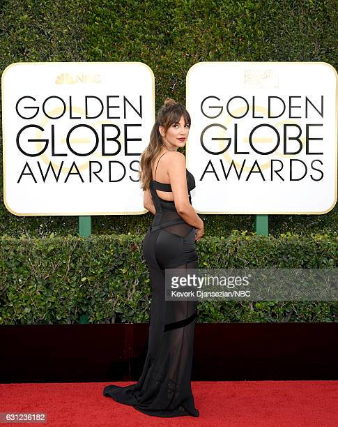 74th ANNUAL GOLDEN GLOBE AWARDS Pictured TV personality Liz Hernandez arrives to the 74th Annual Golden Globe Awards held at the Beverly Hilton Hotel...