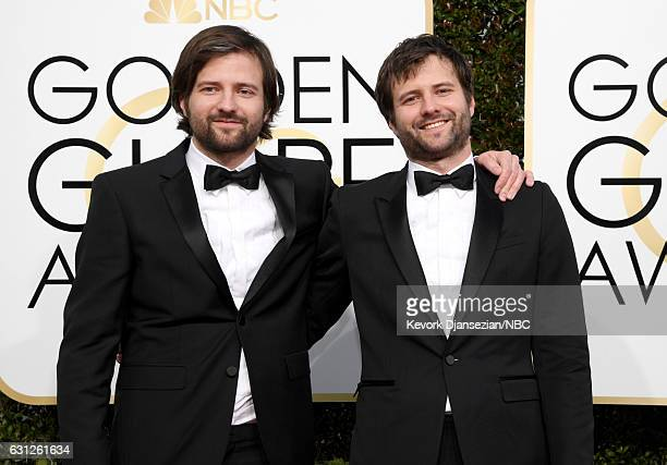 74th ANNUAL GOLDEN GLOBE AWARDS Pictured Writer/producers Matt Duffer and Ross Duffer arrive to the 74th Annual Golden Globe Awards held at the...