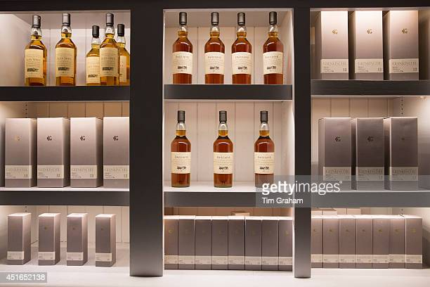 75cl bottles of 12 year old Glenkinchie and Glen Spey and 16 yearold Dailuaine single malt Scotch Whisky in the shop at the end of the visitors tour...
