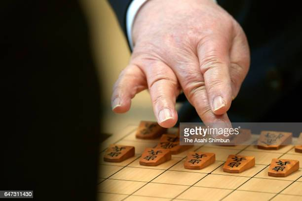 76yearold professional shogi player Hifumi Kato competes in the Meijin Title Ranking C group 2 match at Shogi Kaikan on March 2 2017 in Tokyo Japan