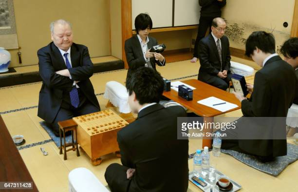76yearold professional shogi player Hifumi Kato is seen prior to his Meijin Title Ranking C group 2 match at Shogi Kaikan on March 2 2017 in Tokyo...