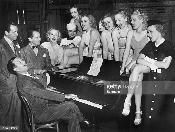 The first musical of the 1936 season is in rehersal it's Vinton Freedley's 'Wait For Baby' and a lot of comely 'Babes' have responded to the first...