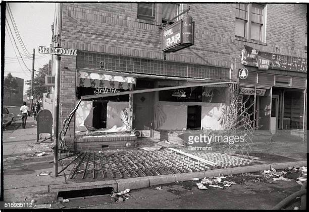 7/7/1970Asbury Park NJ The metal grill offered little protection when looters decided to break into this bar during the 7/6 disturbance along...