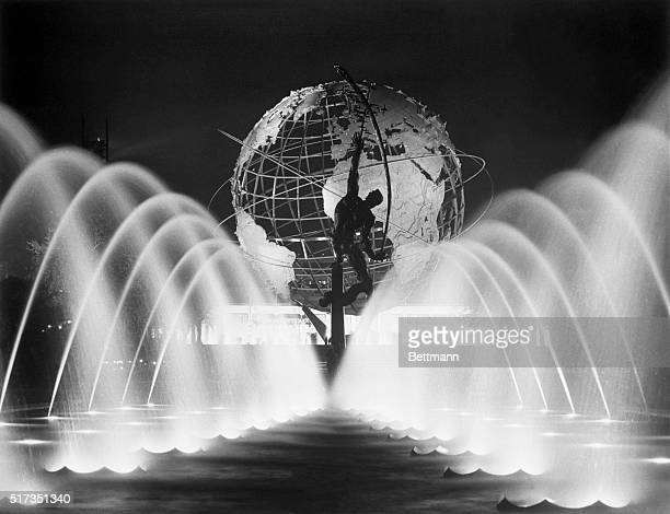 A sight to behold is the beauty of spraying water light and glistening steel at the center of the New York World's Fair It's the prominent site of...