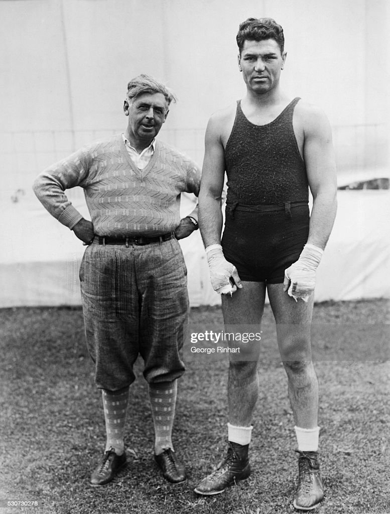 7/9/1927SaratogaNY Jack Demsey former heavyweight champ goes thru some strenuous workouts with his sparring partners in prepartaion for the coming...