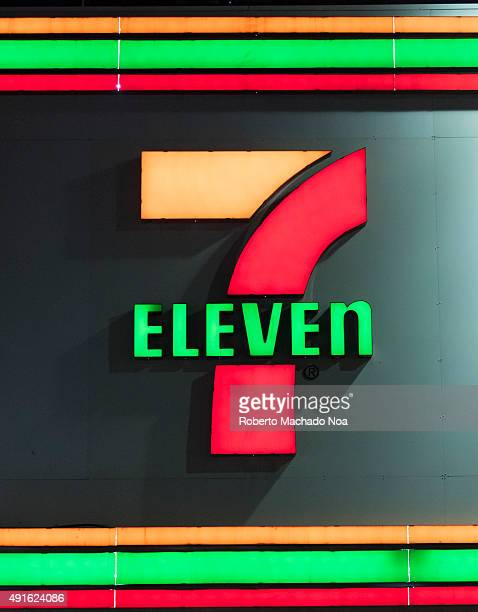 Eleven convenience store signage in downtown Toronto 7Eleven is the world's largest operator licensor and franchisor of convenience stores