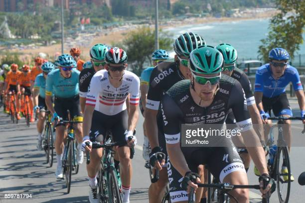 Sam Bennett a Belgiumborn Irish professional cyclist from BoraHansgrohe team during the opening stage the 1767km Alanya to Kemar stage of the 53rd...