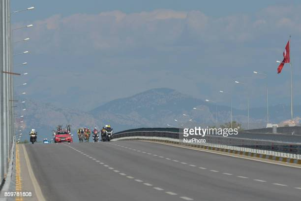The breakaway group of riders during the opening stage the 1767km Alanya to Kemar stage of the 53rd Presidential Cycling Tour of Turkey 2017 On...
