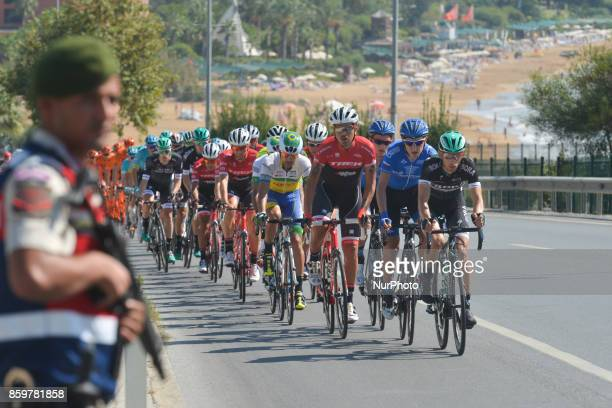The peloton during the opening stage the 1767km Alanya to Kemar stage of the 53rd Presidential Cycling Tour of Turkey 2017 On Tuesday 10 of October...