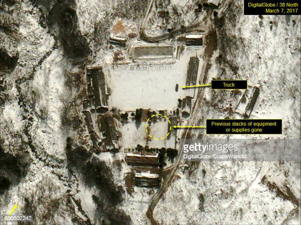 Figure 4 DigitalGlobe imagery showing a truck present in the southern courtyard of the Main Administrative Area Date March 7 2017