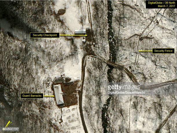 Figure 6 DigitalGlobe imagery showing snow cleared at guard barrack and security checkpoint Date March 7 2017