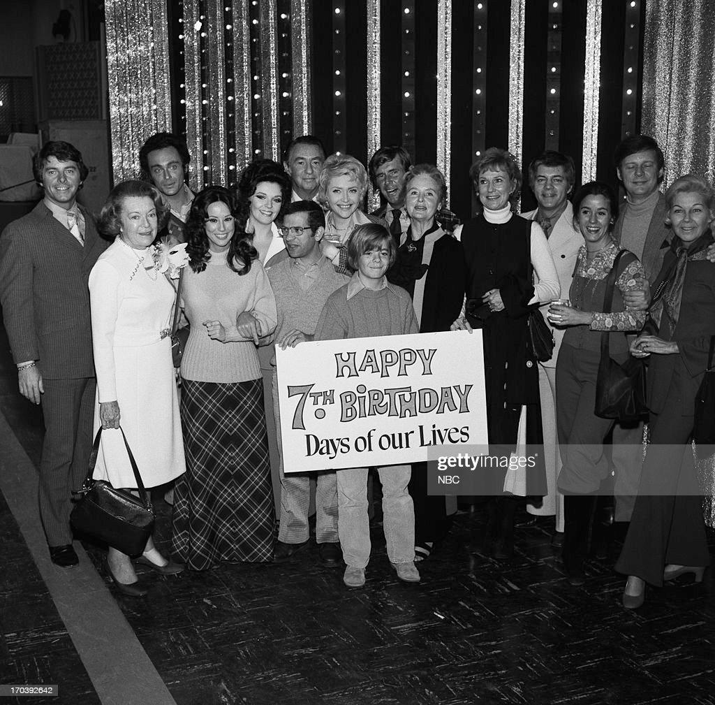 LIVES '7th Anniversary' Pictured Peter Brown Stanley Kamel Susan Seaforth Hayes MacDonald Carey Susan Flannery John Lupton Frances Reid Nancy...