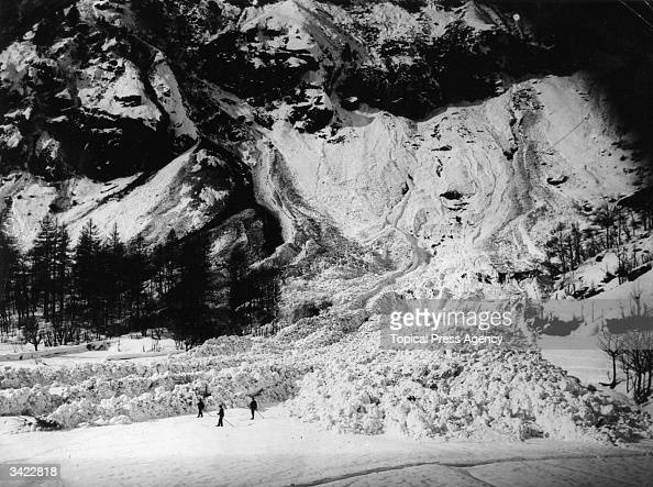 The Italian village of Ruinaux buried beneath tons of snow after a disastrous avalanche