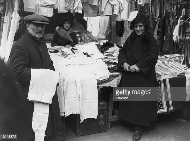 An underwear stall in Petticoat Lane Market East London