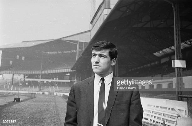 Footballer Terry Venables at Stamford Bridge football ground London after being dropped from the Chelsea team In later years he managed the English...