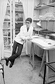 Yves SaintLaurent exwonder boy of Dior working at his own fashion house in Paris