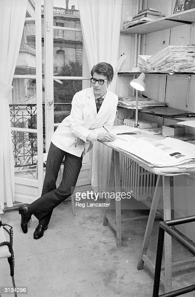 Yves SaintLaurent exwonder boy of Dior working at his own fashion house in Paris