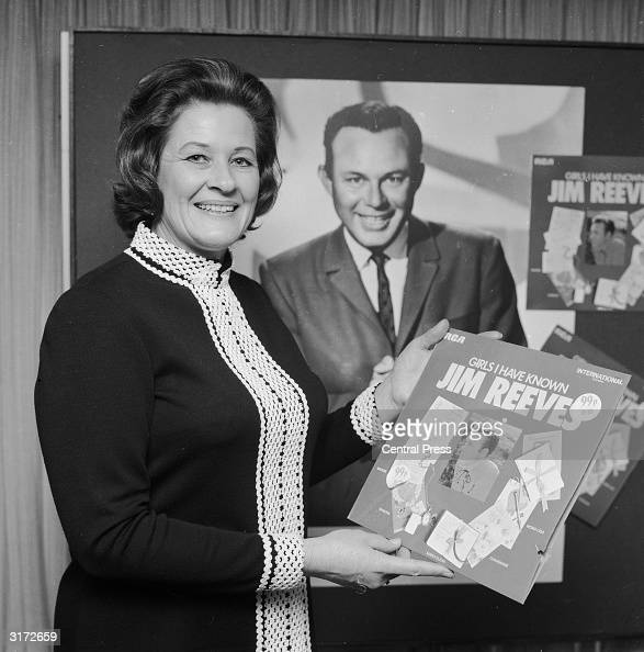 Mary Reeves widow of the country singer Jim Reeves in London to sign a contract with RCA to allow the issue of previously unreleased material from...