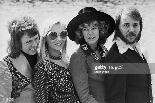 Swedish pop stars Benny Andersson AnniFrid Lyngstad Agnetha Faltskog and Bjorn Ulvaeus of the Swedish pop group ABBA