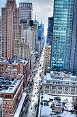 7th Avenue in the Snow