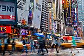 7th Avenue off Times Square, New York, USA