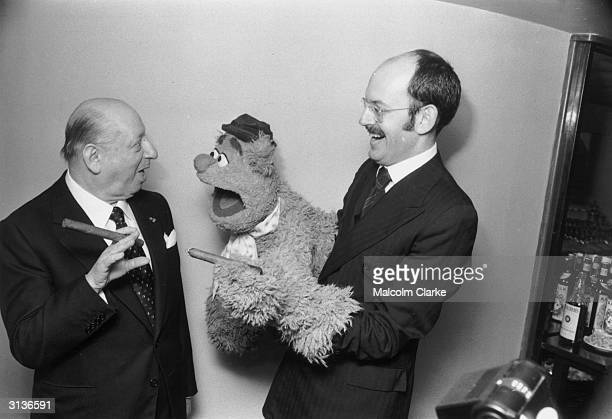 Lord Grade meets Fozzie Bear from the award winning Muppet Show at The Variety Club of Great Britain Show Business Awards luncheon held at the Savoy...