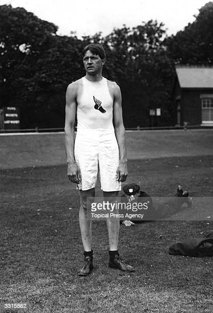 Ray Ewry of the USA in practice at the 1908 London Olympics He won the gold medal for the Standing High Jump as well as a gold medal for the Standing...