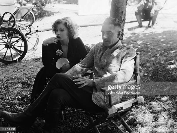 Swedish born American actress Greta Garbo and her fellow actor and lover John Gilbert The pair starred in several films together and their...