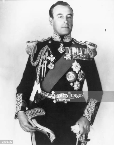 Lord Louis Mountbatten 1st Earl Mountbatten of Burma the last Viceroy of India and overseer of the partition of India into India and Pakistan
