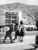 Women in short skirts and high heels walking freely down a street in Kabul