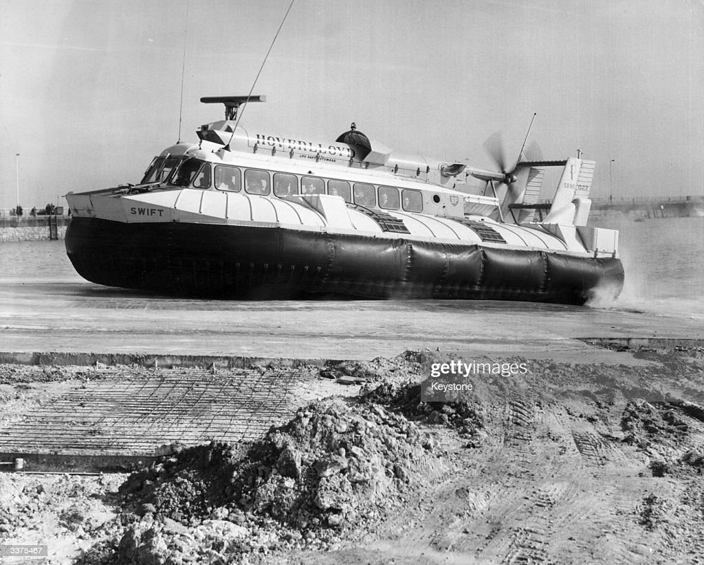 The christening of a hovercraft in Ramsgate Harbour