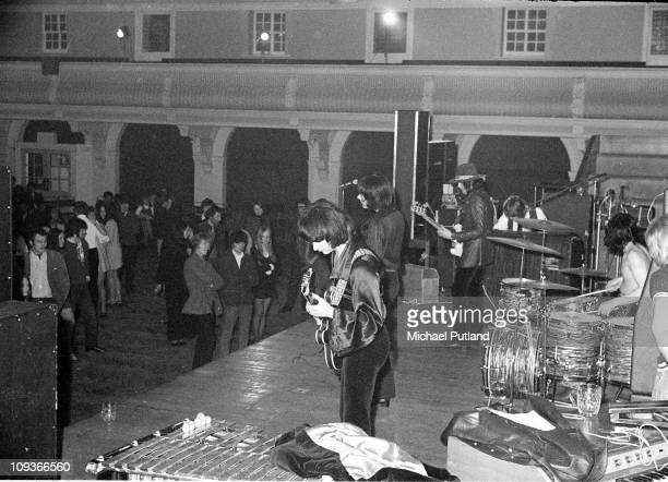 Deep Purple perform on stage at Goldsmiths College London 7th March 1969 LR Ritchie Blackmore Ian Gillan Roger Glover Jon Lord Ian Paice